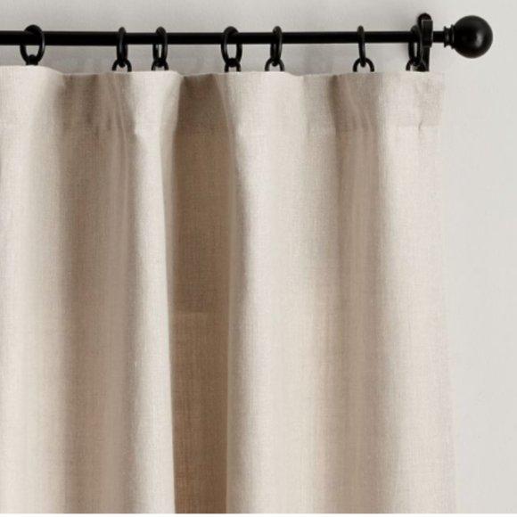 (1) Belgian Linen Rod Pocket Blackout Curtain